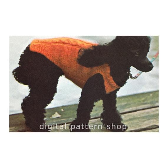 Knit Dog Sweater Pattern Cabled Dog Coat Knitting Pattern Dog Etsy