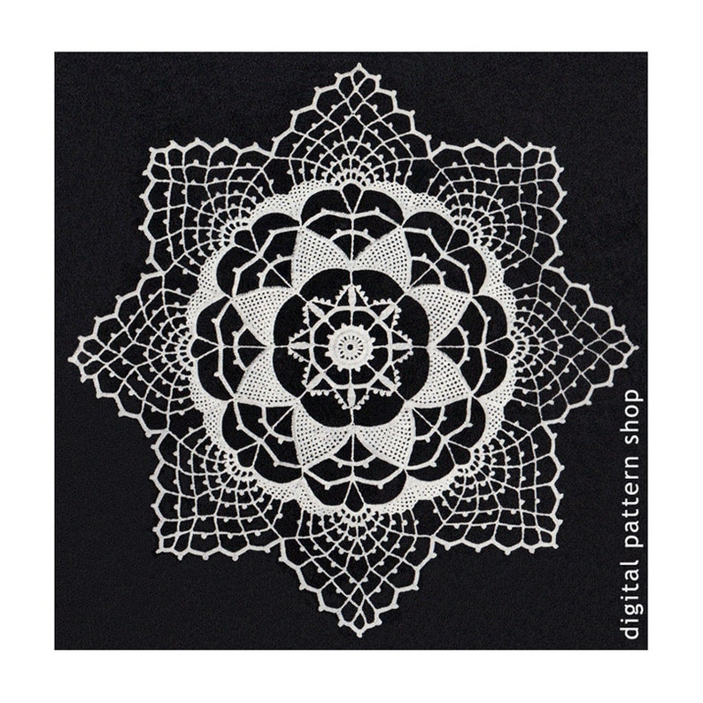 Crochet Doily Pattern Vintage Pointed Harmony Doily Crochet Pattern Digital  PDF Instant Download PDF -C44