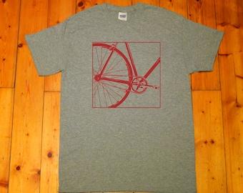 Fixie, biker, Single Speed bike, old school bike, bicycle, born to ride, Fixed gear - Retro screen printed T-shirt
