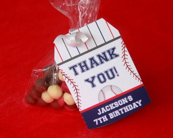 Baseball Favor Tags - Baseball Tags - Baseball Thank You Tags - Printable Favor Tags - Baseball Birthday - Baseball Party (Instant Download)