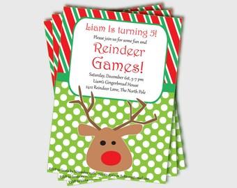 christmas party invitation printable candy cane invitation etsy