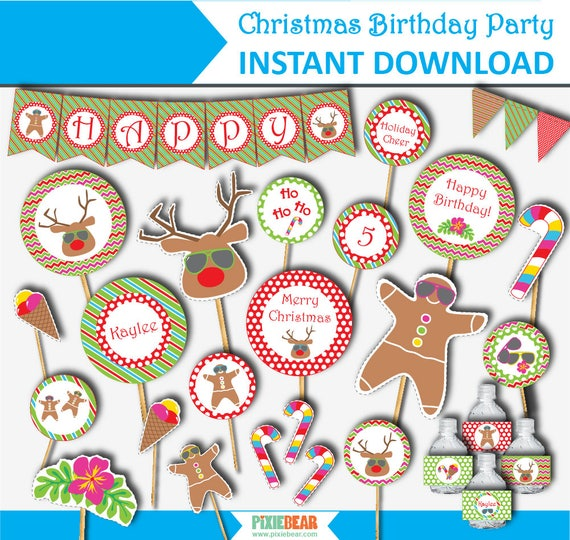 Christmas In July Party Clipart.Summer Christmas Christmas Birthday Party Christmas In