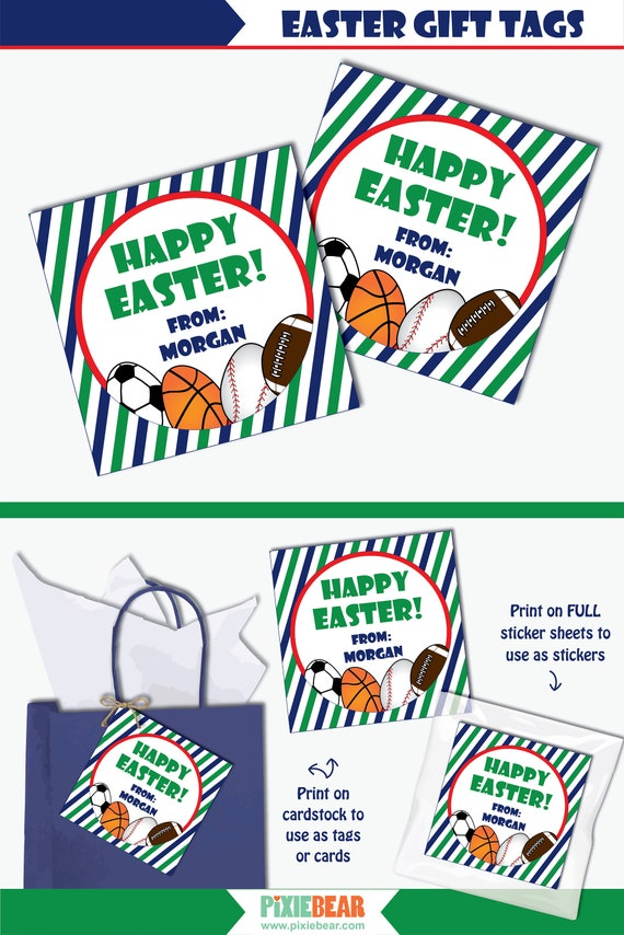 picture relating to Printable Easter Gift Tags named Pleased Easter Present Tags - Printable Easter Tags toward be utilized upon