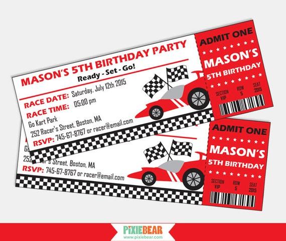 race car invitation race car birthday invitation racing party