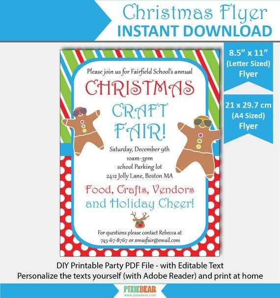 Summer Christmas Flyer For Kids - Christmas Flyer Template