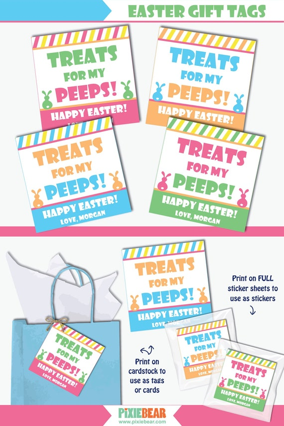 photo about Printable Easter Gift Tags known as Easter Present Tags - Printable Easter Address Tags which can be custom-made for Easter Favors (Fast Down load Editable PDF)