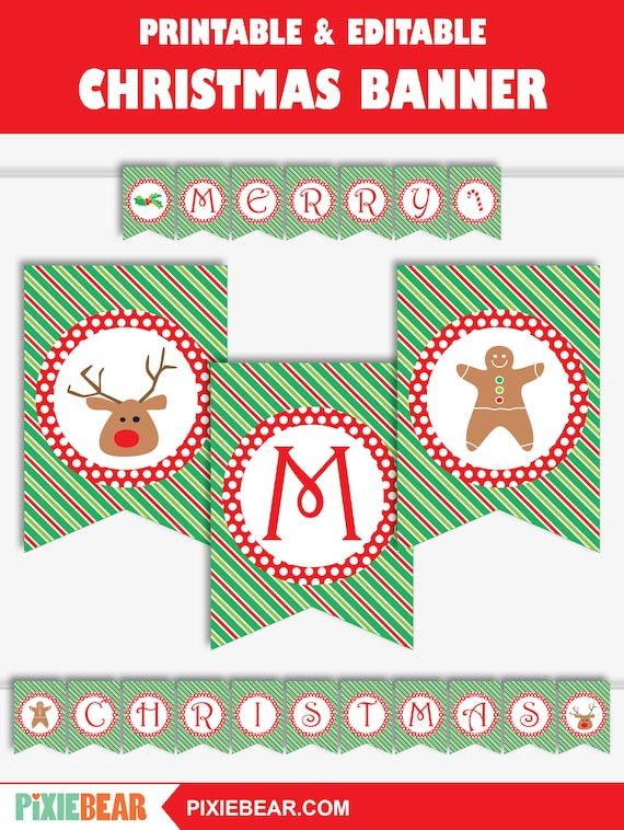 The Best Merry Christmas Banner Printable