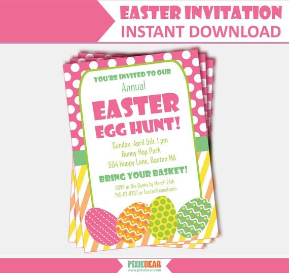 easter egg hunt invitation easter party invitation easter