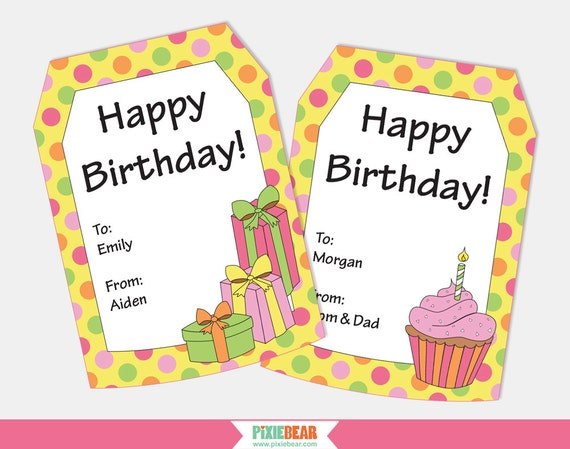 Personalized Birthday Tags Gift Happy