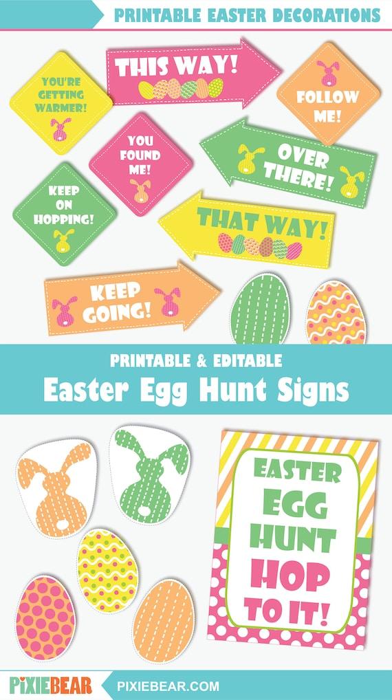 Easter Egg Hunt Signs Printable Easter Party Signs And Decorations Editable Easter Egg Hunt Sign Templates For Kids Instant Download