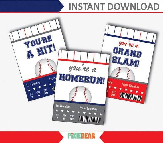 Baseball Valentines Cards For Kids Baseball Valentines Day