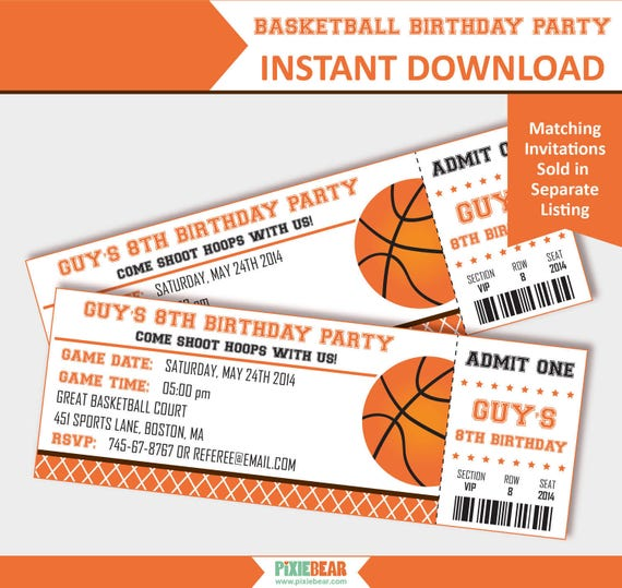 basketball birthday basketball party decorations etsy