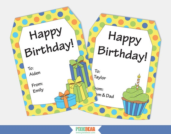 Personalized Gift Tags Birthday