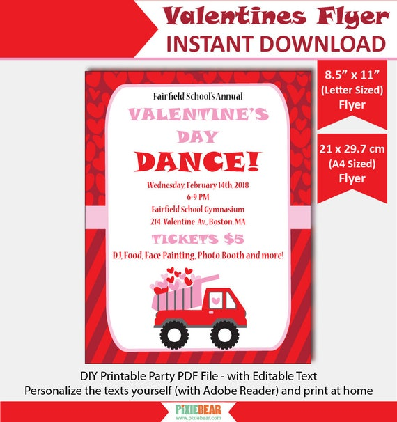 Valentines Flyer Template