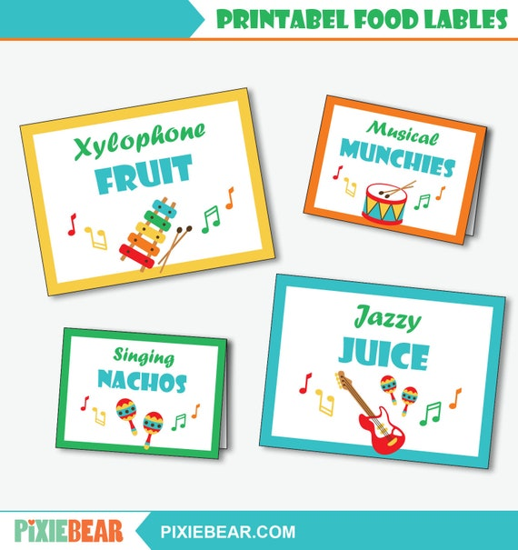 graphic about Printable Food Labels known as Audio Birthday Food stuff Labels - Printable Tunes Bash Foods Signs and symptoms, Initial Birthday Songs Decor, Songs Birthday Buffet Indicator (Prompt Down load PDF)