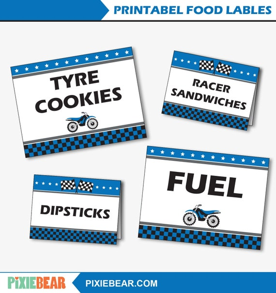image relating to Printable Food Labels called Motocross Birthday Food items Labels - Printable Decorations for a Motorbike Little one Shower or a Filth Motorbike Birthday (Prompt Obtain)
