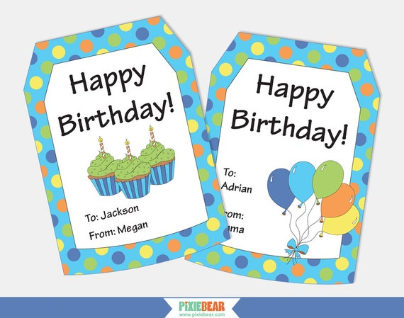 birthday gift tags personalized gift tags personalized birthday