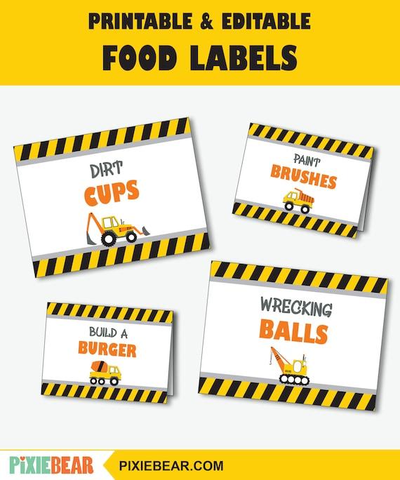 Editable Tags Thank You Tags Editable Labels Safari Birthday Food Tags Food Cards Safari Baby Shower Printable Food Labels Place Cards