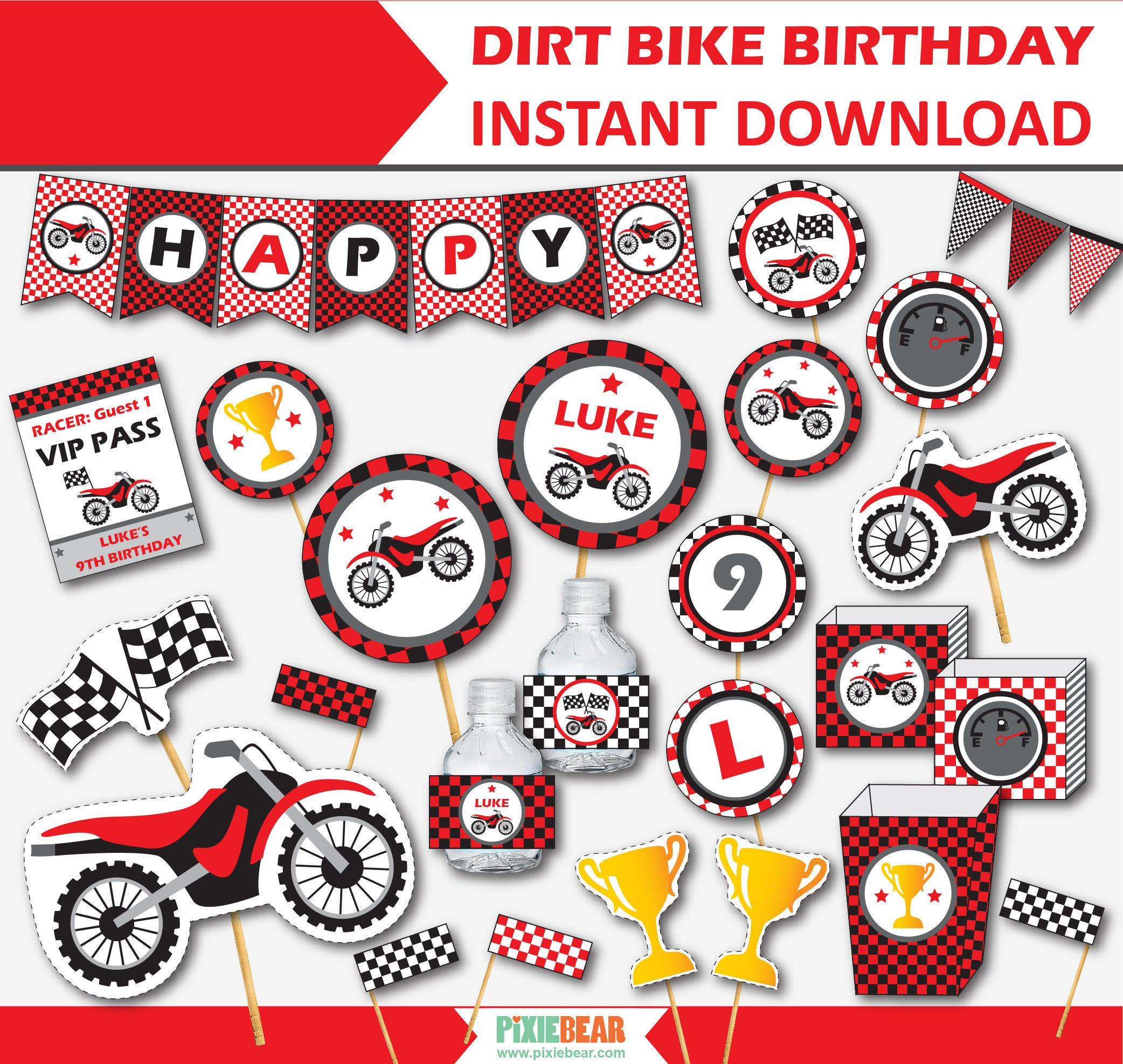Dirt Bike Party Motorcycle Birthday Motocross Party