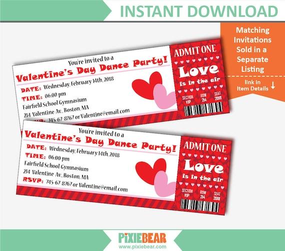 Valentines Day Flyer Valentines Flyer Template Valentines Etsy