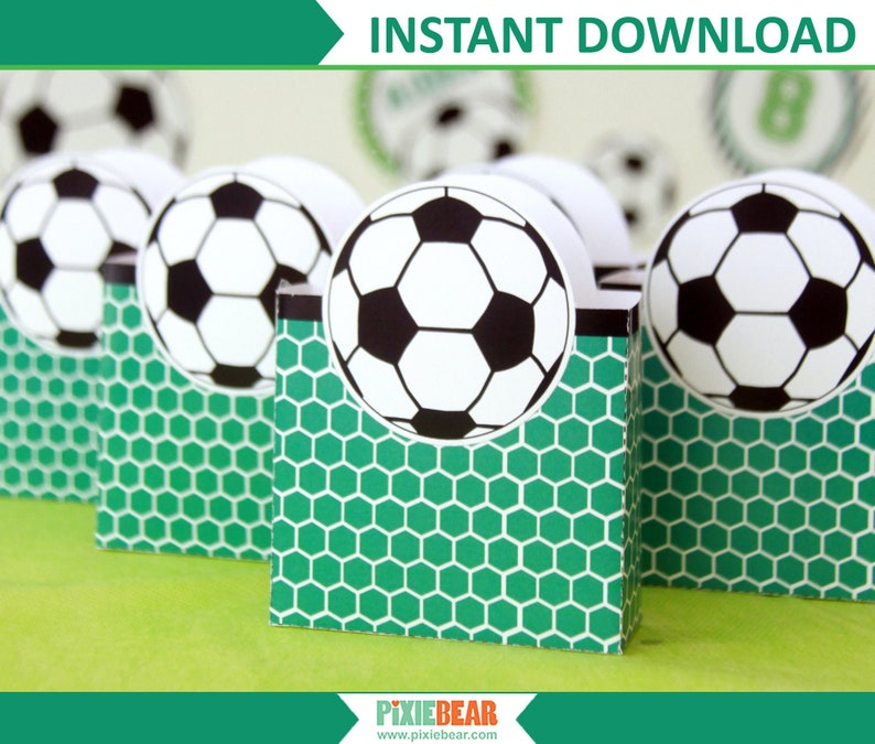 photo about Soccer Printable called Football Want Packing containers - Printable Choose Baggage for a Football Birthday Bash, Like Box Template for Football Goodie Baggage (Fast Obtain PDF)