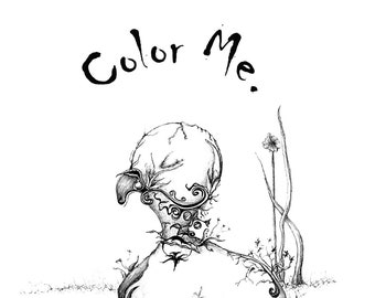 Color Me 2015 - Digital Download - Coloring Book,  24 coloring pages, surreal and super fun