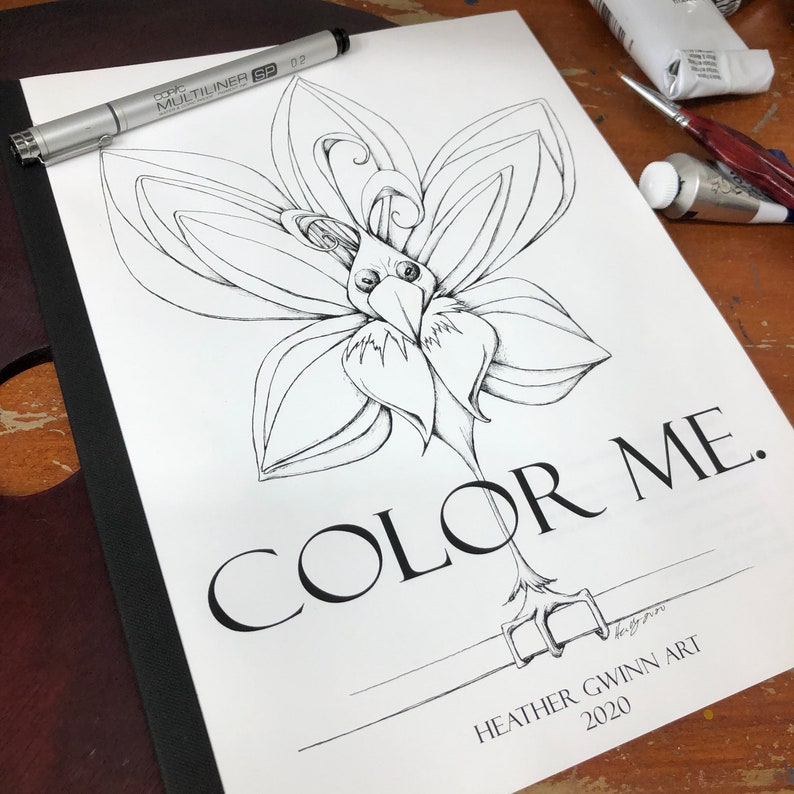 Color Me 2020  coloring book surreal and whimsical coloring image 0