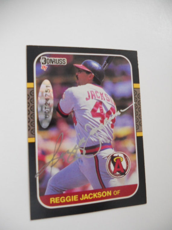 Reggie Jackson Rare Signed Baseball Card Uda Certified From 1992 With Coa