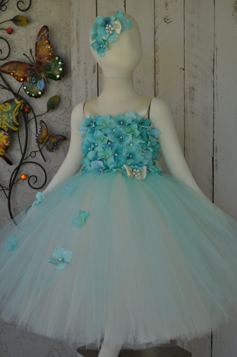 f96b647dab34 Aqua Flowergirl DressGirls Capri Blue Special Occasion