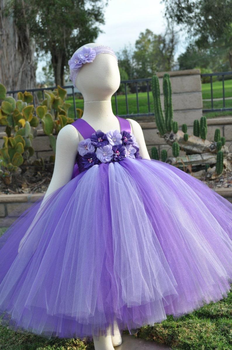 9d6b6b2f2c564 Violet lavande fleur fille robe robe mauve lavande enfant en