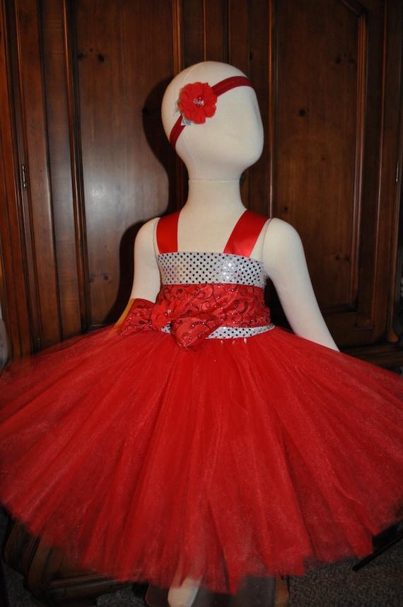 d201bafc75a Red Silver Flower Girl Dress Girls Red Silver Dress Toddler
