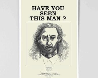 Twin Peaks Poster - Wanted Poster - Bob - David Lynch - Twin Peaks Art