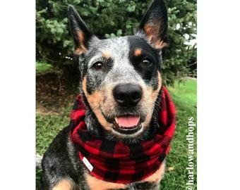 Flannel Infinity Dog Scarf