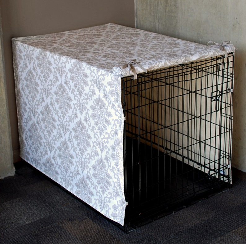 Custom Crate Cover Taupe Damask image 0