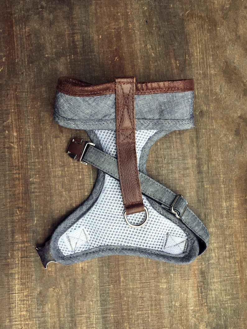 Chambray & Leather Soft Harness image 0
