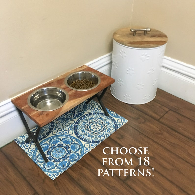 Custom-Sized Water-Resistant Pet Food Placemat image 0