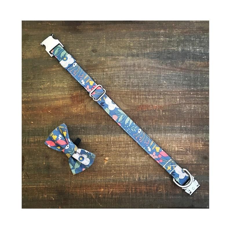 Vintage Floral Bow Tie Collar image 0