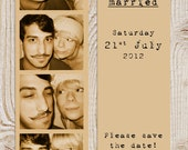Photostrip, bookmark wedding save the date