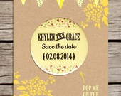 Festival bunting design Save the Date Magnet
