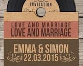 Vinyl Retro Vintage CD Wedding Invitation