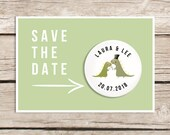 Dinosaur wedding - save the date magnet