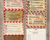Concertina fold - Christmas wedding invitation