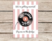Vinyl Design Save the Date Magnet, Vinyl Record Magnet, Save the Date Cards, Personalised Wedding Stationery, Luxury, Fun Announcements