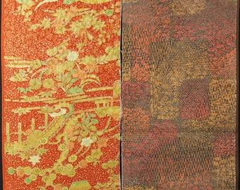 Vintage kimono silk fabric 2 pcs #7476