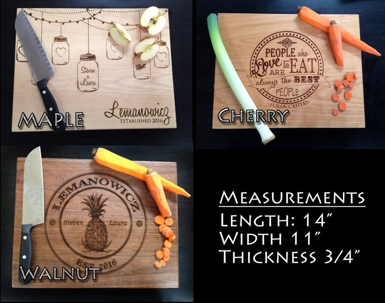 Personalized Cutting Board Wedding Gift Cutting Board Engraved Cutting Board Anniversary Cutting Board Custom Cutting Board Cooking Gift