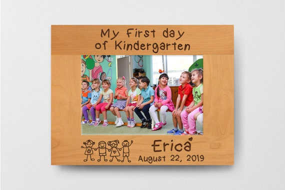Personalized Kindergarten Frame First Day Of School Sign Etsy