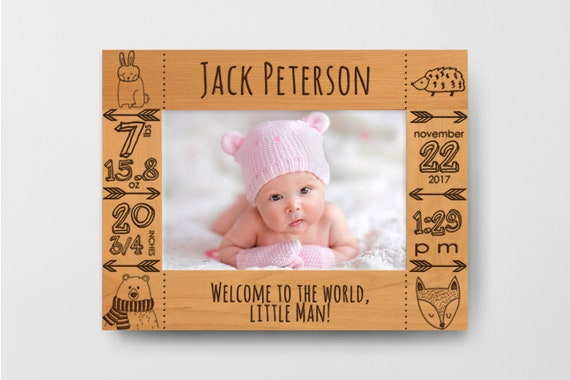 Baby Picture Frame Personalized Baby Girl Picture Frame Baby Etsy