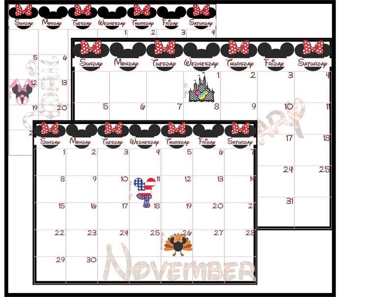 Disney themed 18 month Calendar June 2020-December 2021 | Etsy