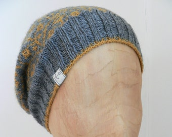 cap with fair isle pattern