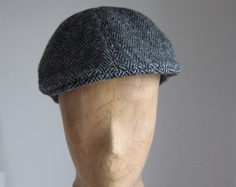 Peaked cap, winter hat, men's hat, beak hat, sun protection, timeless, casual and sporty made of silk with cotton lining
